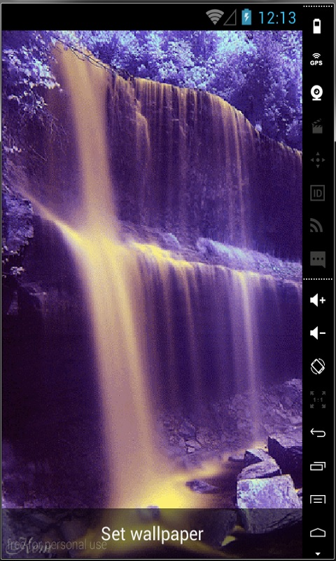 Download Purple Waterfall Live Wallpaper for your Android phone 480x800