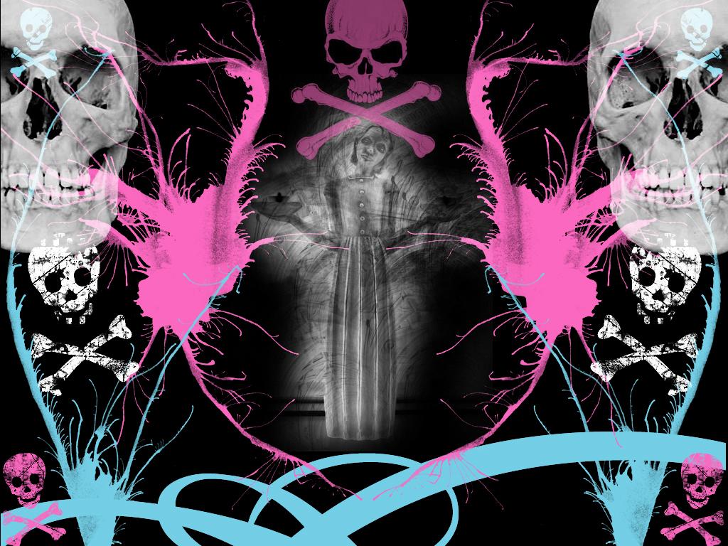 Skull Backgrounds For Girls Sick girl wallpaper by 1024x768