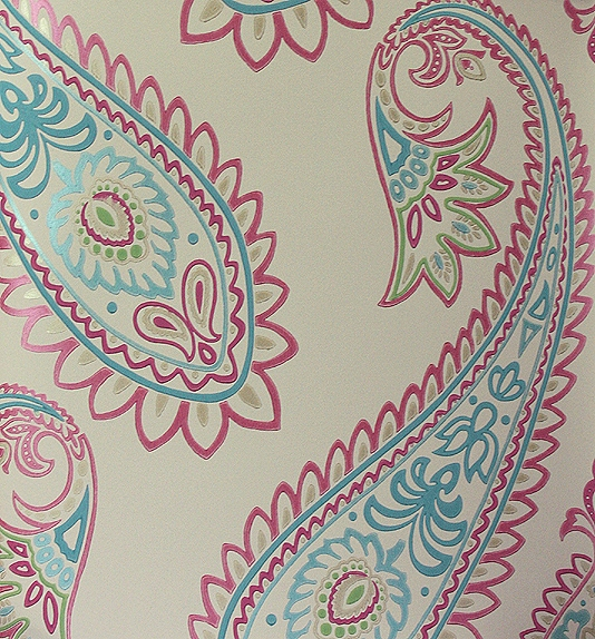 Turquoise And Pink Wallpaper Nizam 534x574