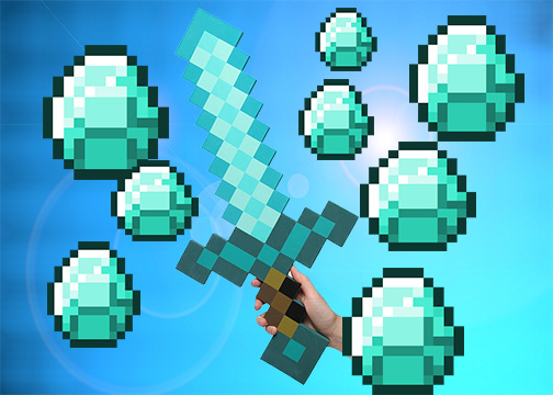 Minecraft Diamond Sword Wallpaper By Turtle Edits 504x360