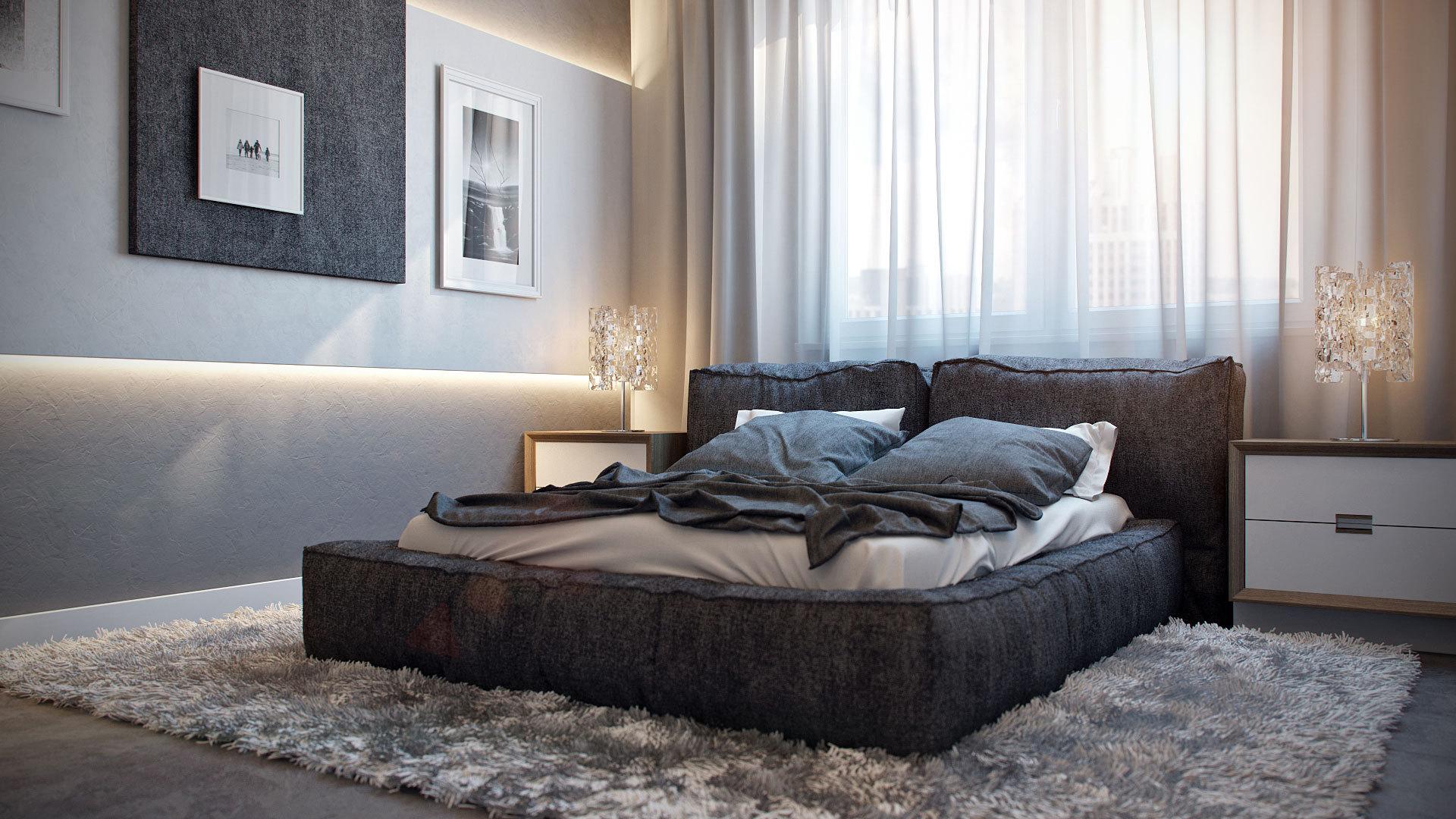 fur carpet bedroom furniture space minimalist art hd wallpaper 1920x1080