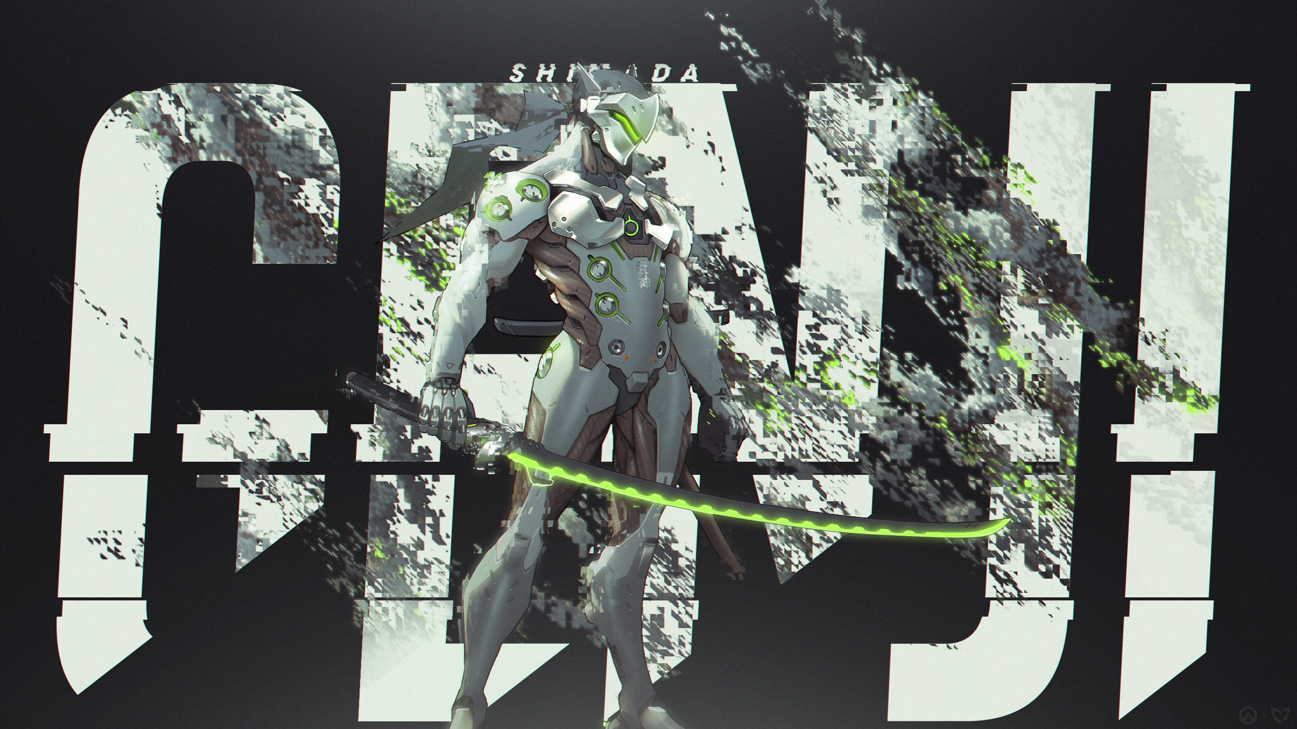 Overwatch   Genji Wallpaper by MikoyaNx 2560x1440