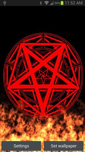 View bigger   Pentagram Fire Live Wallpaper for Android screenshot 288x512