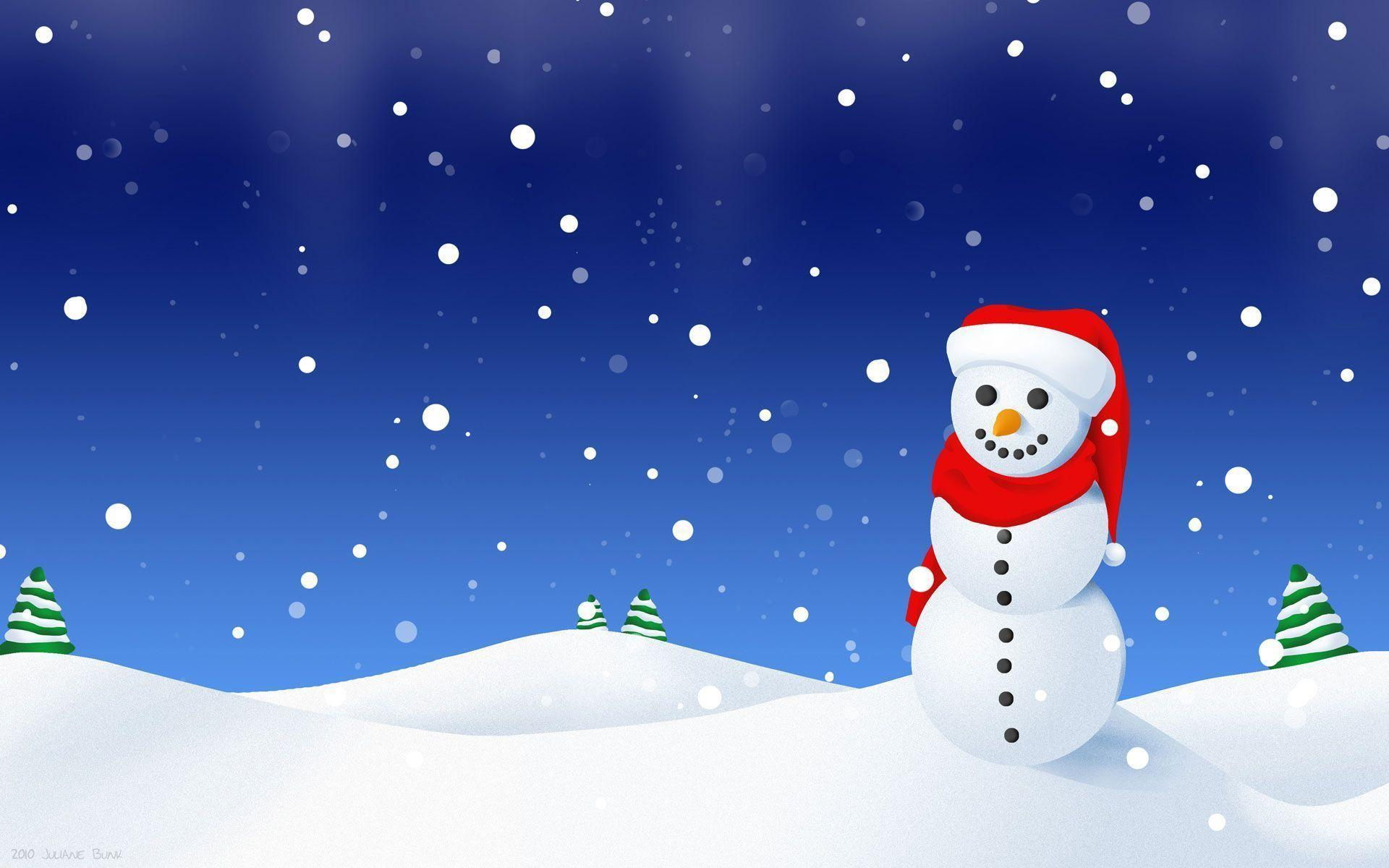 Winter Snowman Wallpapers 1920x1200