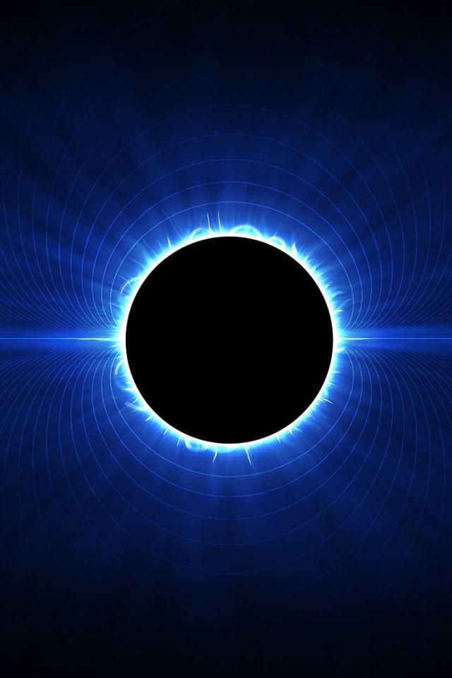 wallpaper iPhone Blue Eclipse in 2020 Galaxy wallpaper Lunar 640x960
