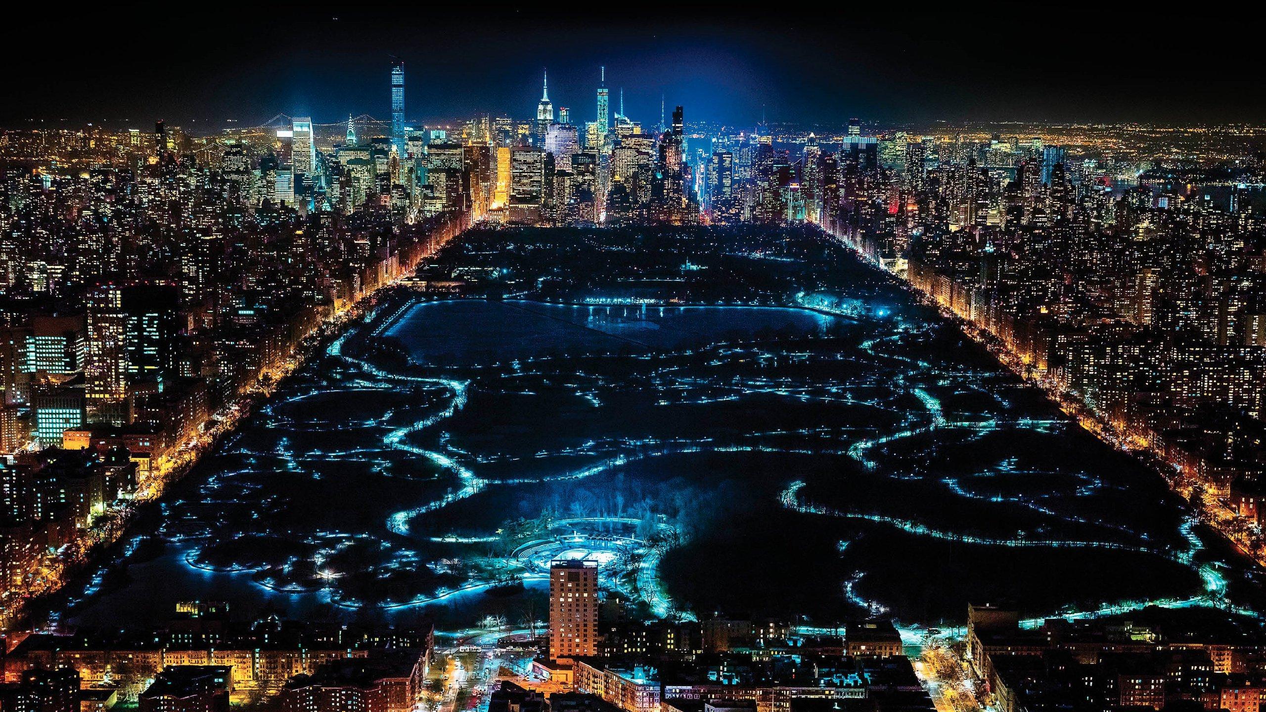 NYC at Night HD wallpaper 2560x1440