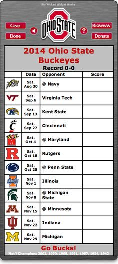 photo relating to Ohio State Football Schedule Printable identify 49+] Oklahoma Nation School 2015 Soccer Program