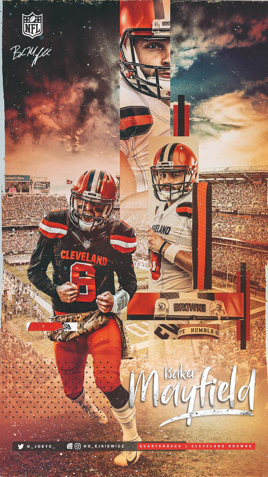 Baker Wallpaper just in time for the Holidays Browns 1080x1920