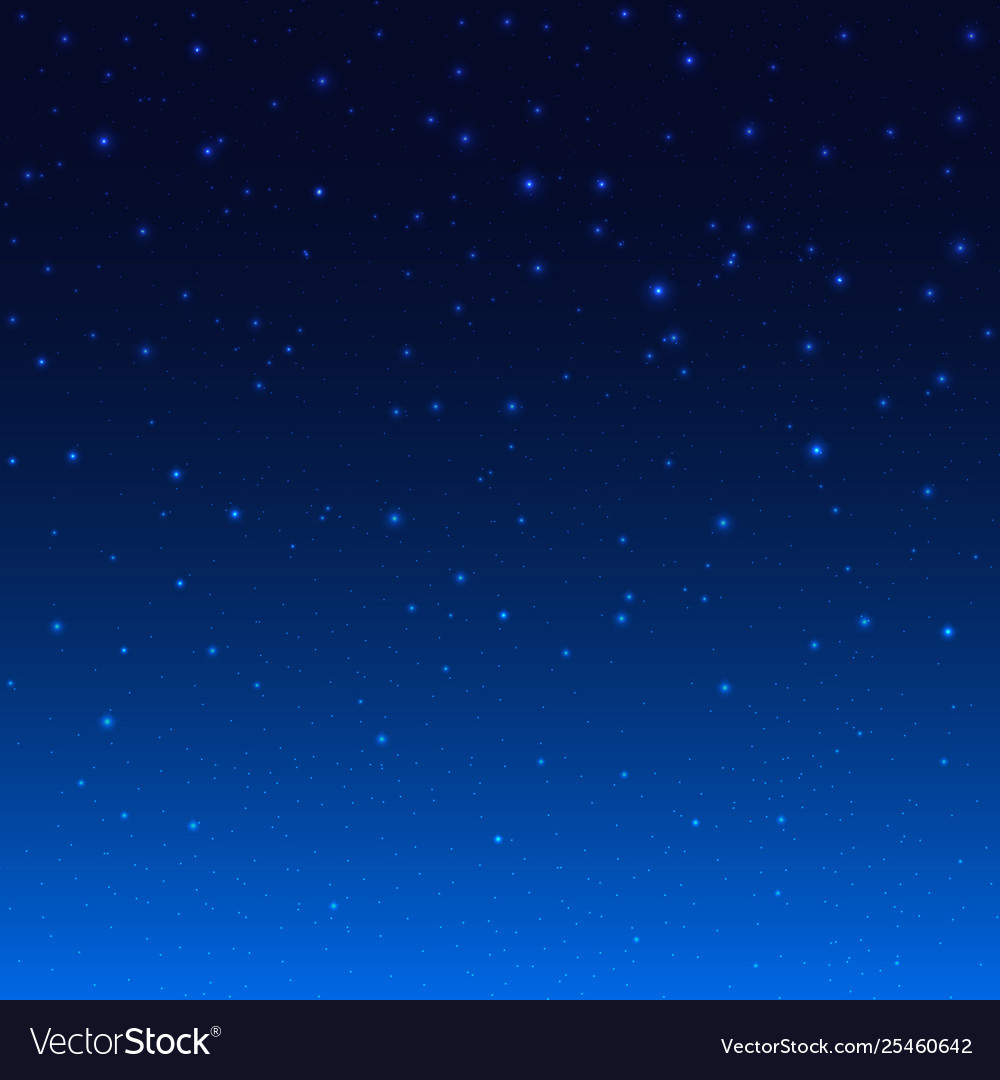 Night shining starry sky blue space background Vector Image 1000x1080