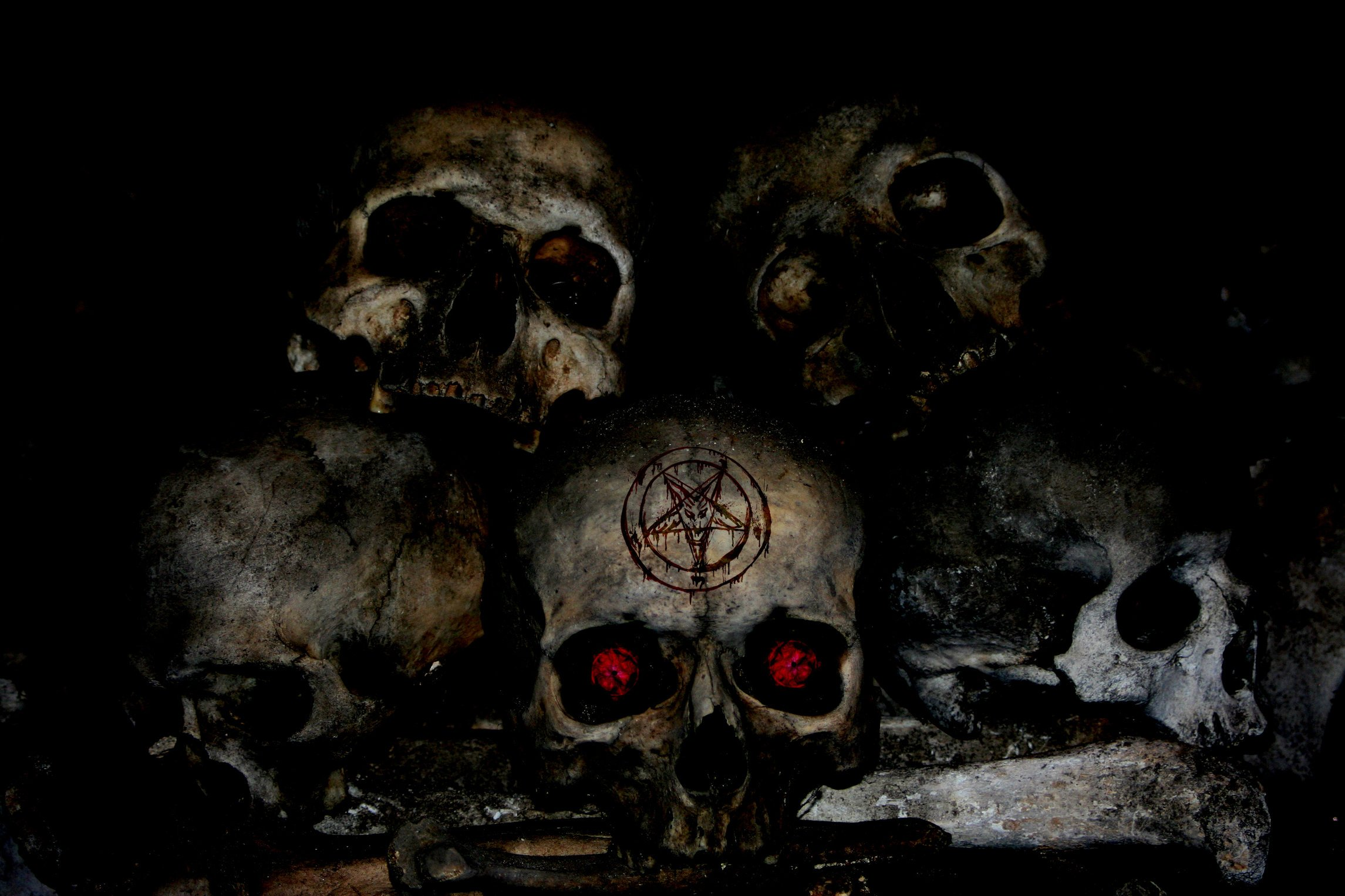 Evil skulls wallpaper wallpapersafari - Devil skull wallpaper ...
