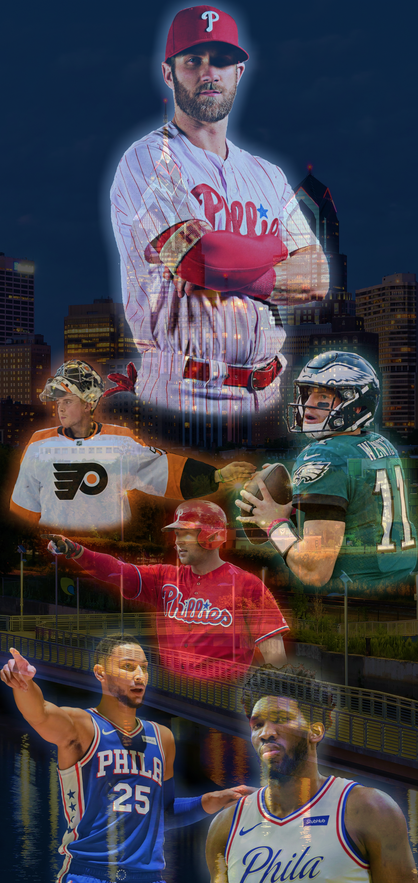 This is my second Future of Philly Wallpaper Made for the 1440x3040