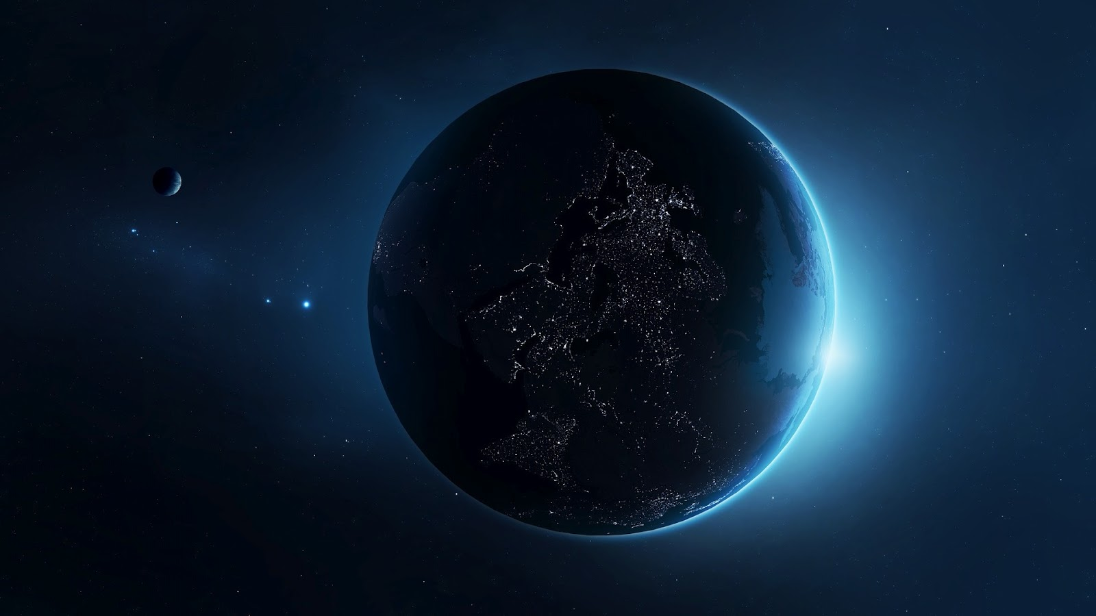 Earth at Night HD Wallpaper Home of Wallpapers download hd 1600x900