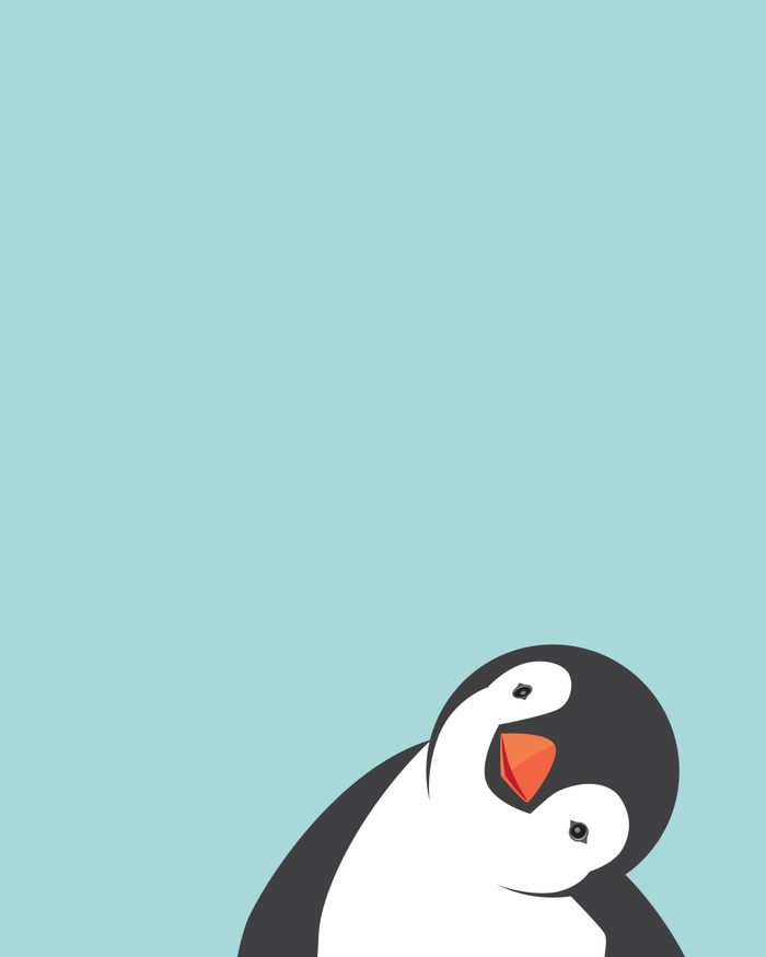 Penguin Art Print by Marie Lucas Society6 IPhone wallpaper in 700x875