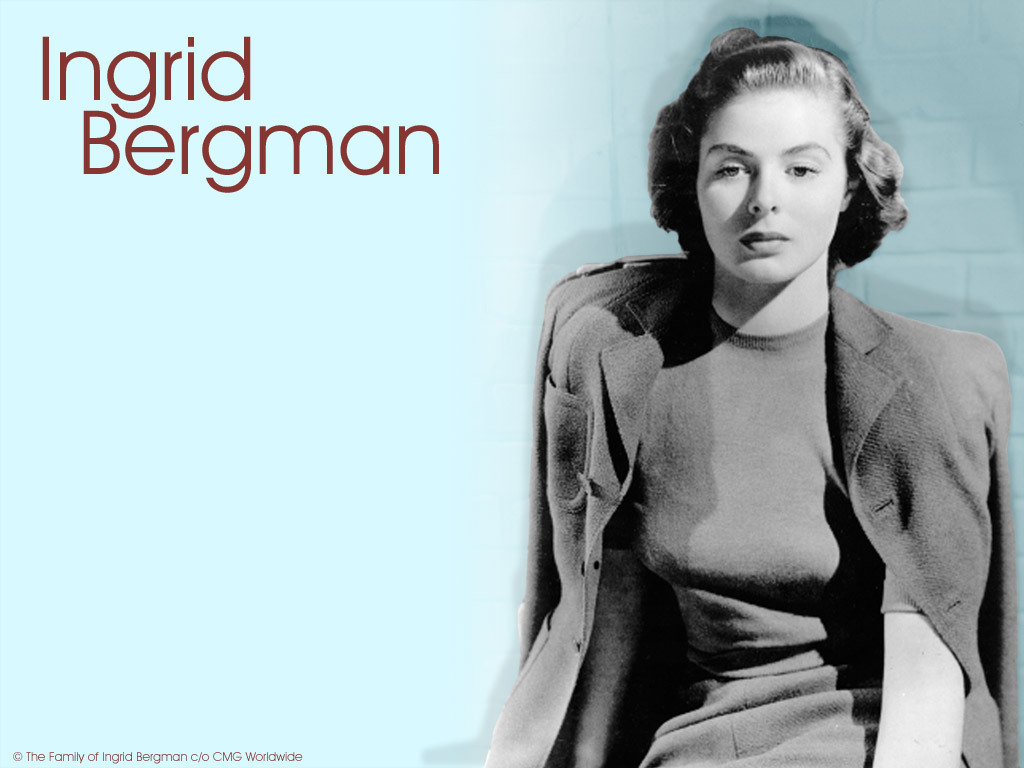 Ingrid Bergman   Ingrid Bergman Wallpaper 3834949 1024x768