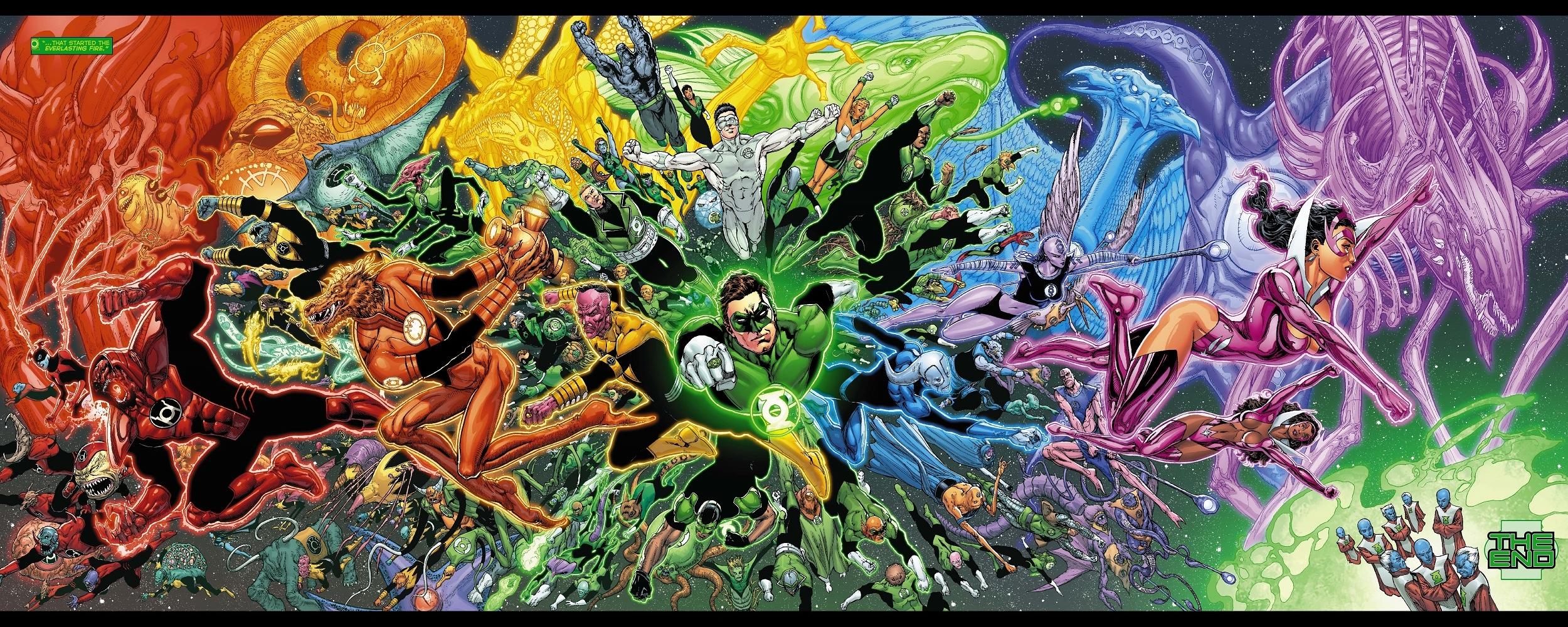 Lantern Corps Comic Comics Green Lantern Corps Superhero Wallpaper 2500x1000