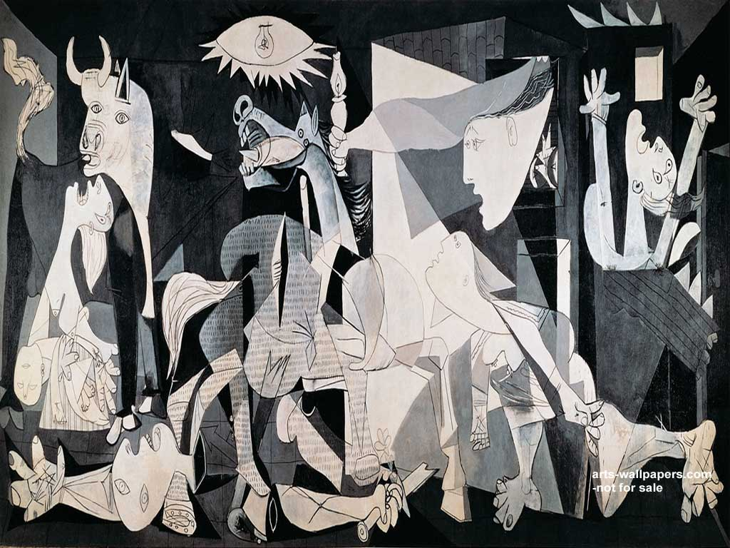 Guernica Wallpaper Guernica Poster Guernica c1937 Pablo Picasso 1024x768