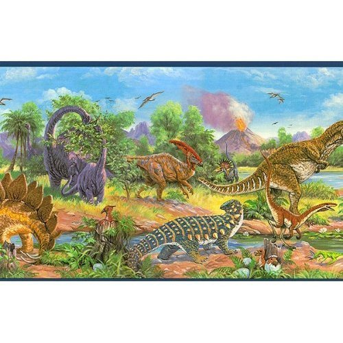 Dinosaur wallpaper border wallpapersafari - Paperboy dinosaur wallpaper ...