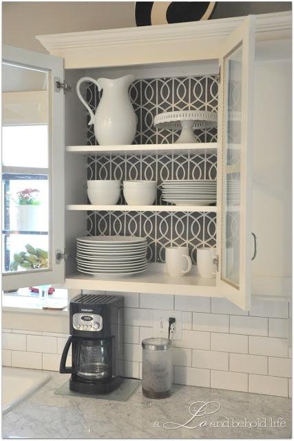 41+] Wallpaper Inside Kitchen Cabinets on WallpaperSafari