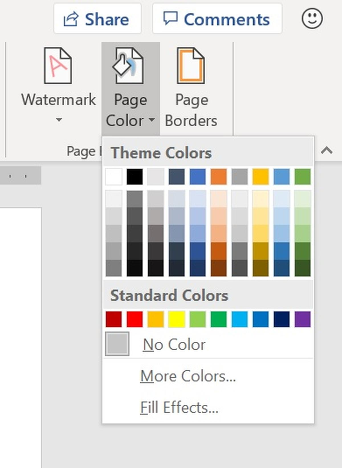 How to add color or a picture to a Word documents background 1200x1641
