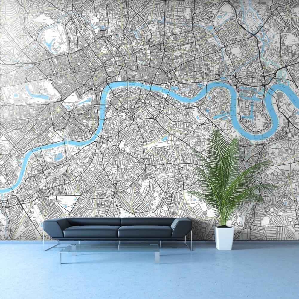 Prints acrylic photo prints wallpaper murals street map wallpaper 1000x1000