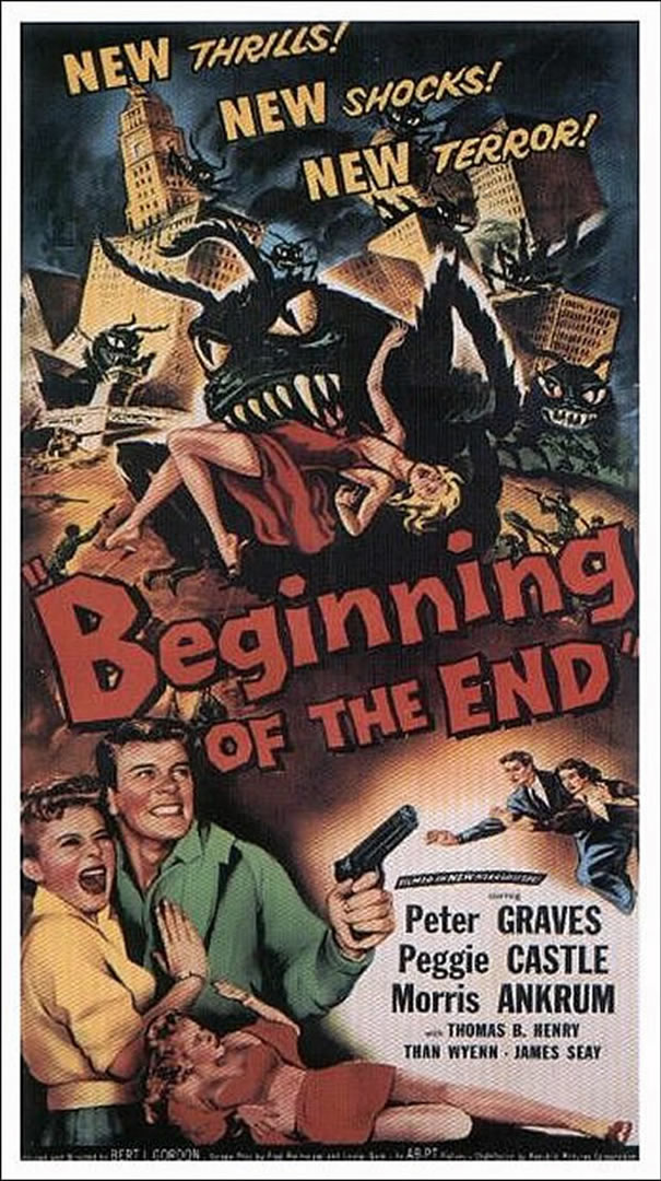 BEGINNING OF THE END Portrait   Alien Invasion B Movie Posters 605x1080