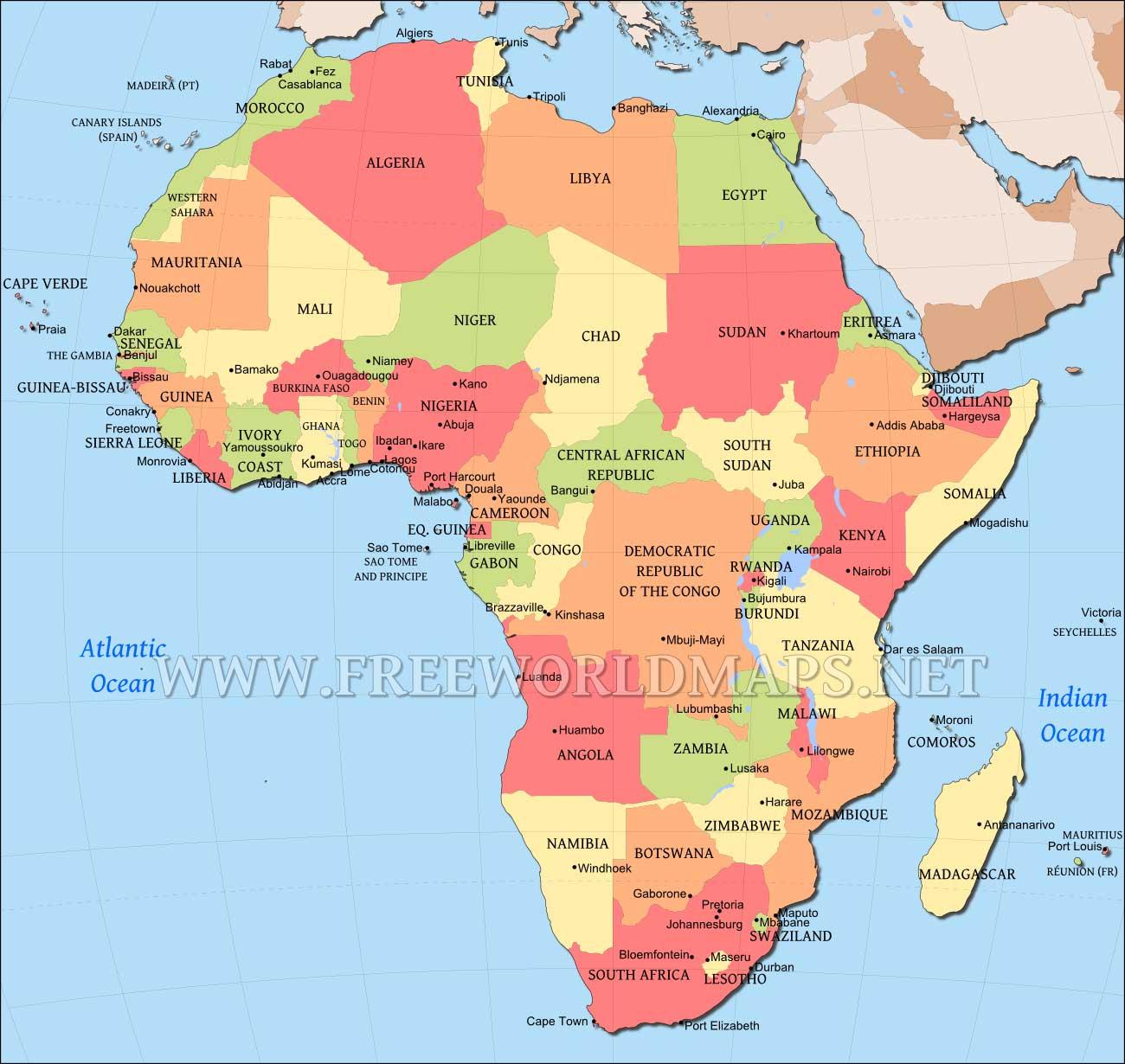 Africa Map Wallpaper - WallpaperSafari African Countries Map
