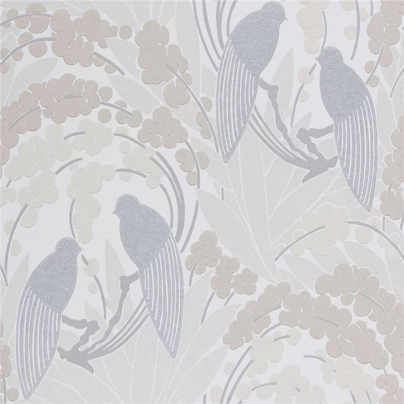 Beige Grey   60123   Love Birds   Harlequin Boutique Wallpaper 800x800
