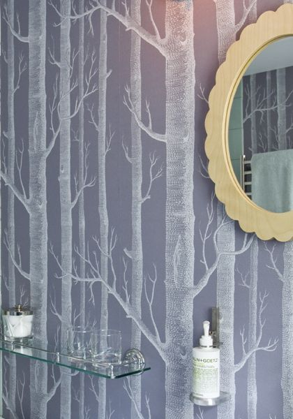 Birch is a big trend in design these days This Cole Son wallpaper 420x600