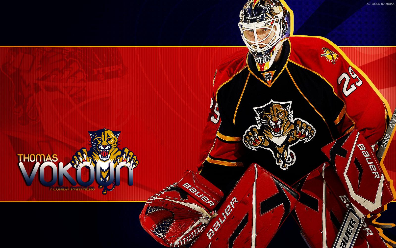 NHL Wallpapers   Tomas Vokoun Florida Panthers Widescreen wallpaper 1600x1000