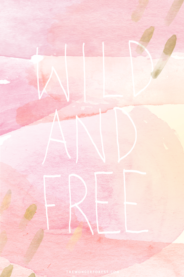Pink and Gold Watercolor iPhone Wallpapers Wonder Forest 640x960