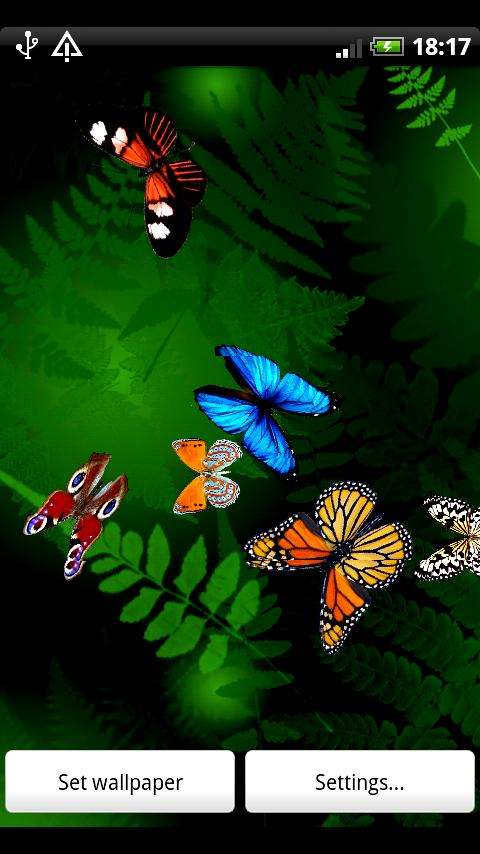 Butterfly Live Wallpaper v13 For Android JiMz Freebies 480x854
