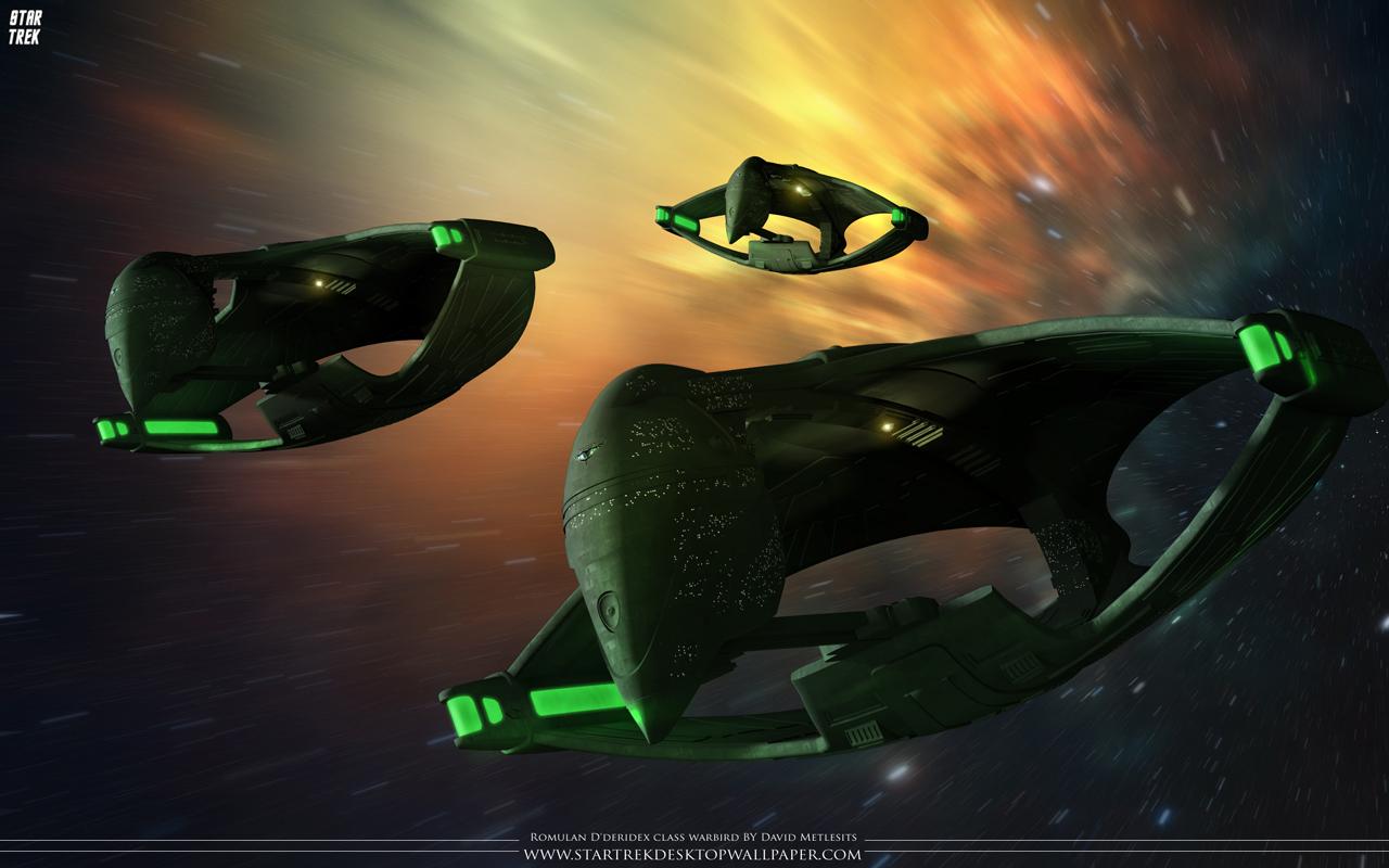 Star Trek Dderidex Class Warbirds At High Warp Star 1280x800