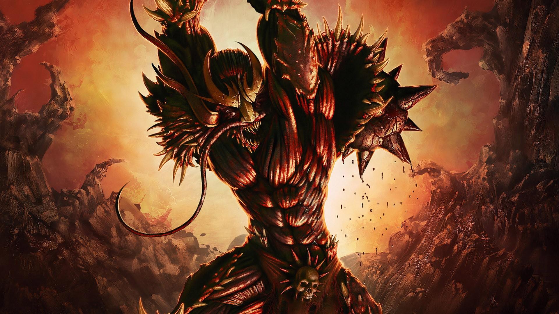 Demon Monster Wallpapers Spiky Demon Monster Myspace Backgrounds 1920x1080