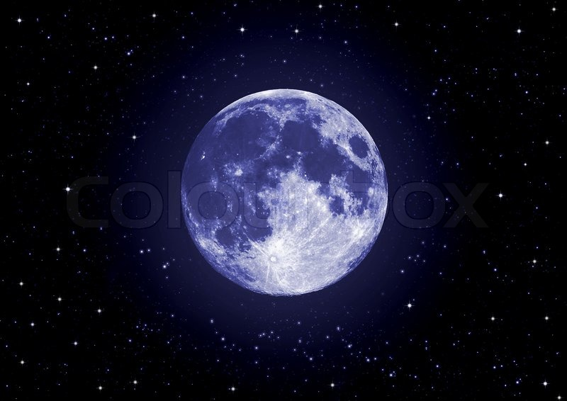 Full Moon and Stars Wallpaper - WallpaperSafari
