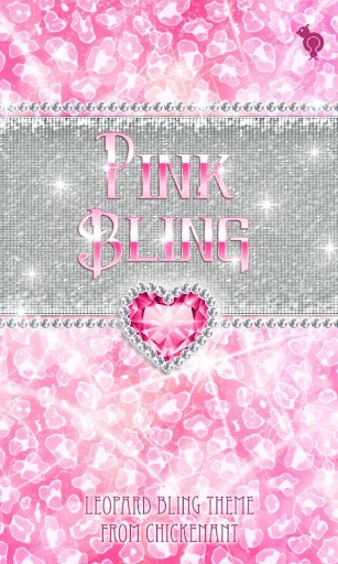Bling Pink Leopard Theme SMS App for Android 307x512