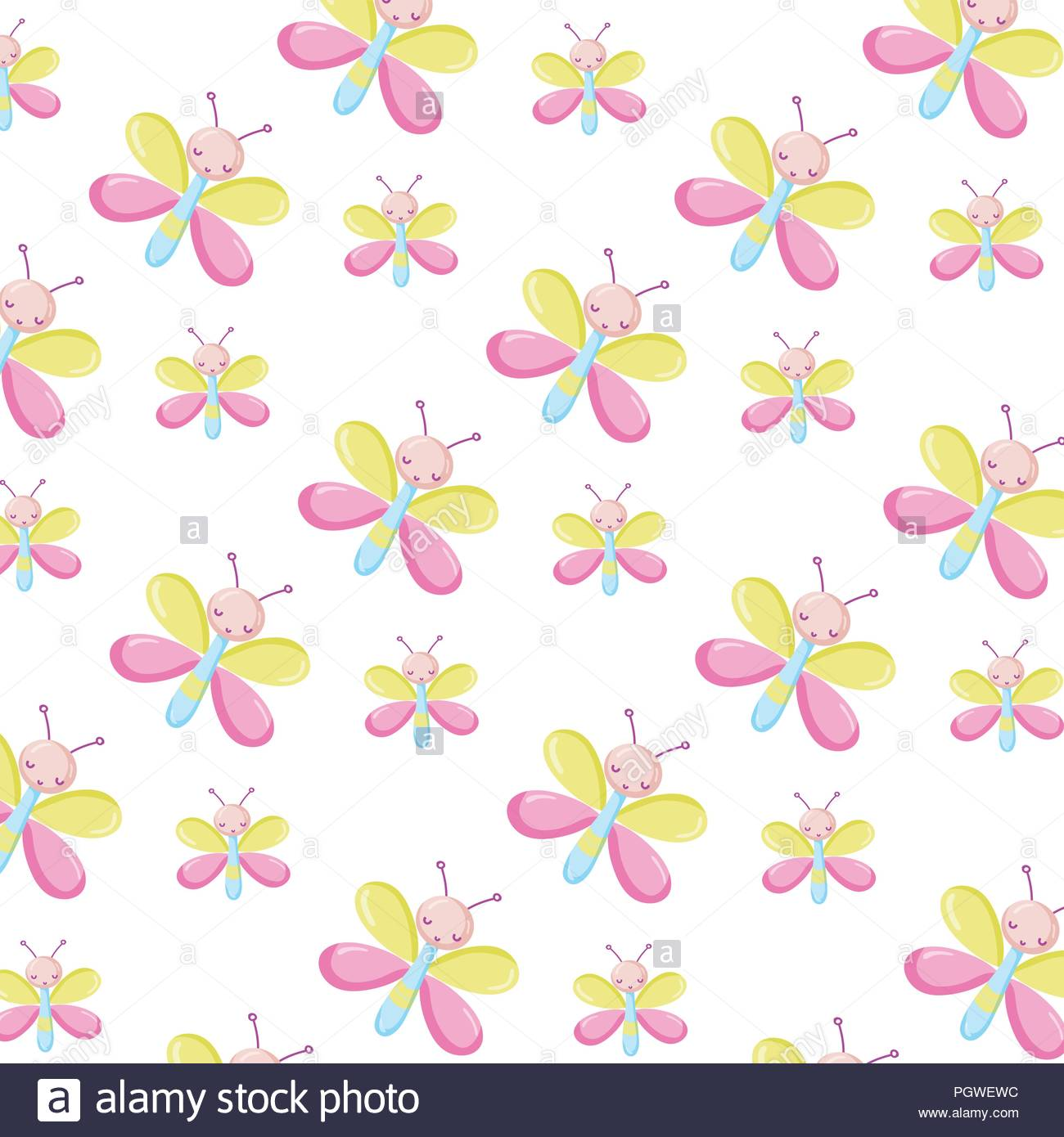 cute butterfly insect animal background Stock Vector Art 1300x1390