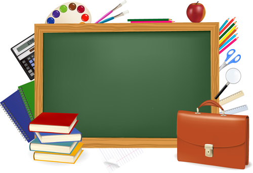 School backgrounds set 09   Vector Background download 500x342