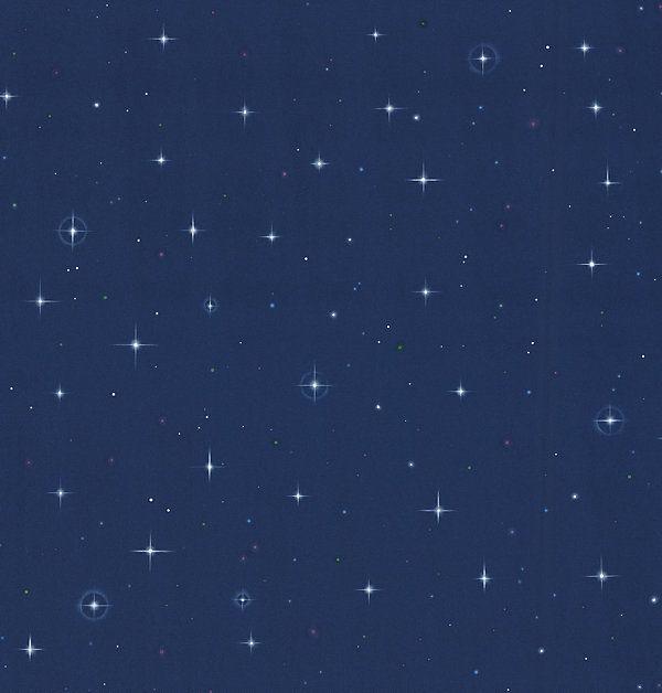 One Kings Lane   First Impressions   Night Sky Blue Stars Wallpaper 600x628