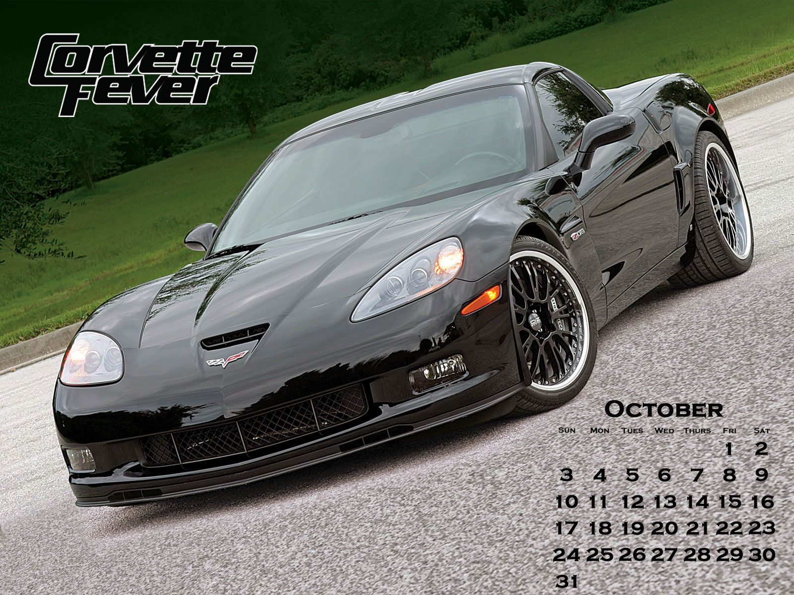Thread Corvette Fevers 2010 October Calendar 1600x1200