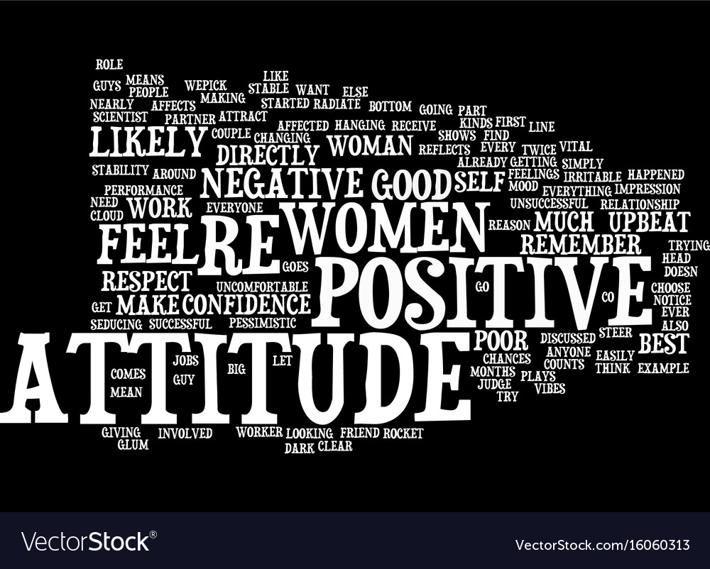 Your attitude counts text background word cloud Vector Image 1000x802
