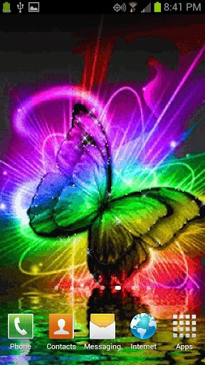 butterfly color live wallpaper on your phone save as live wallpaper 288x512