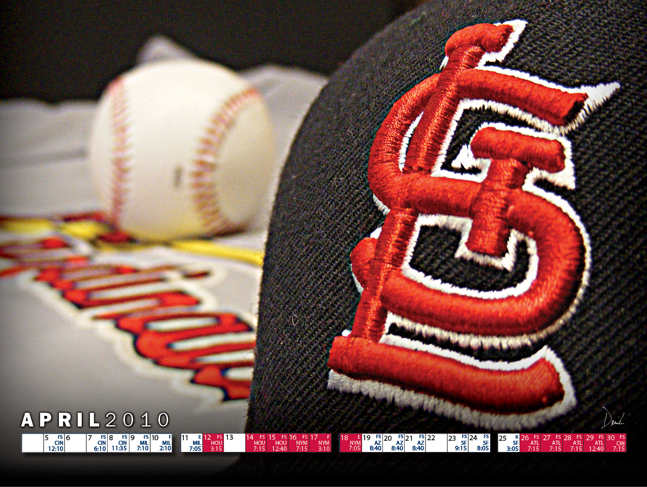 Derrick Docket April 2010 St Louis Cardinals Wallpaper 1274x958