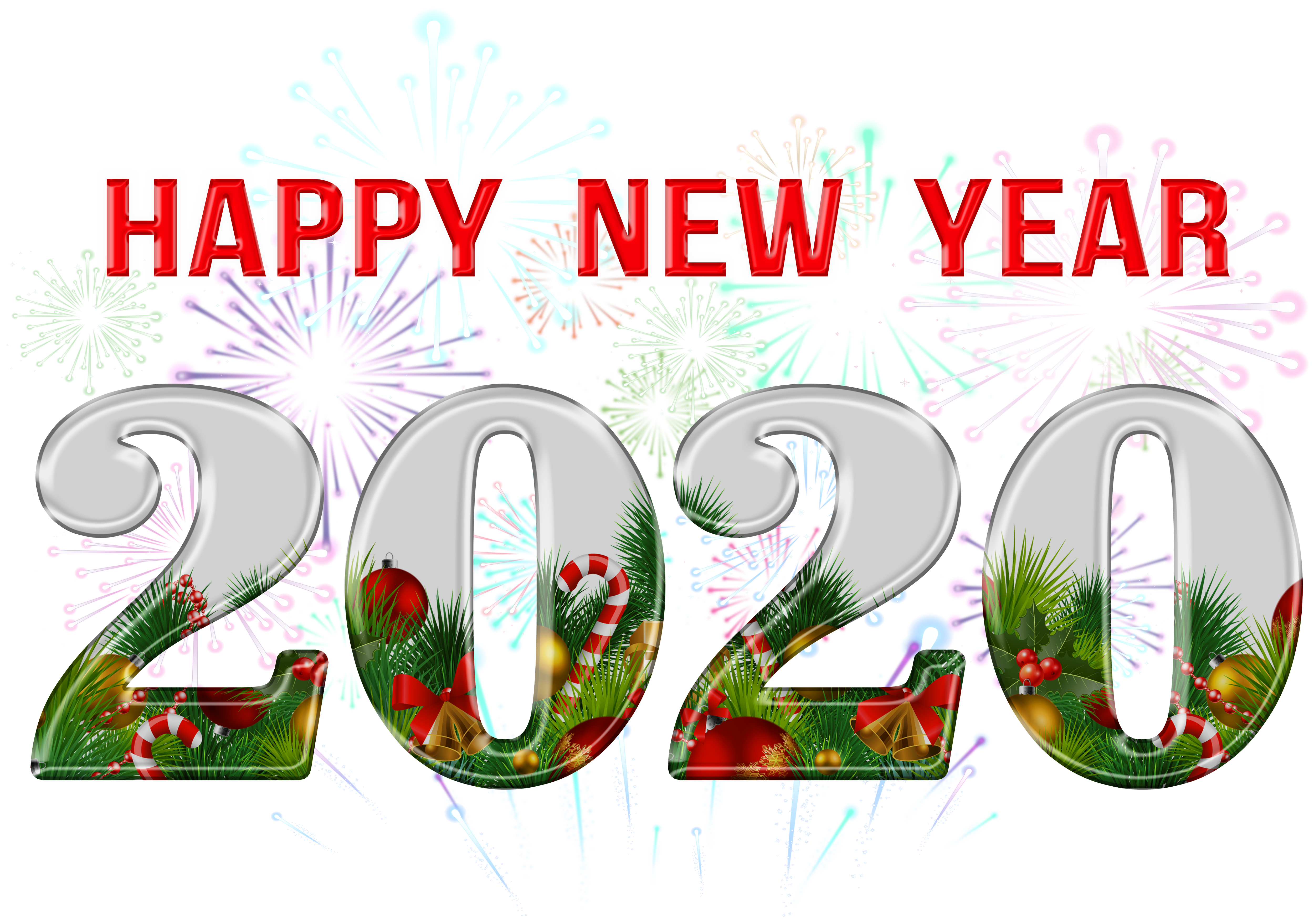 Happy New Year 2020 PNG Clipart Gallery Yopriceville   High 5000x3517