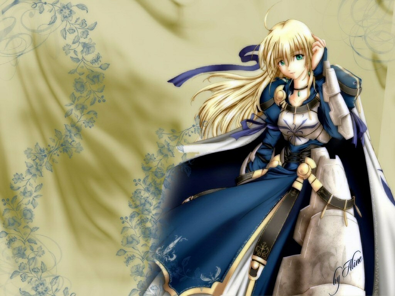 anime blue saber Anime Fate Stay Night HD Desktop Wallpaper 800x600