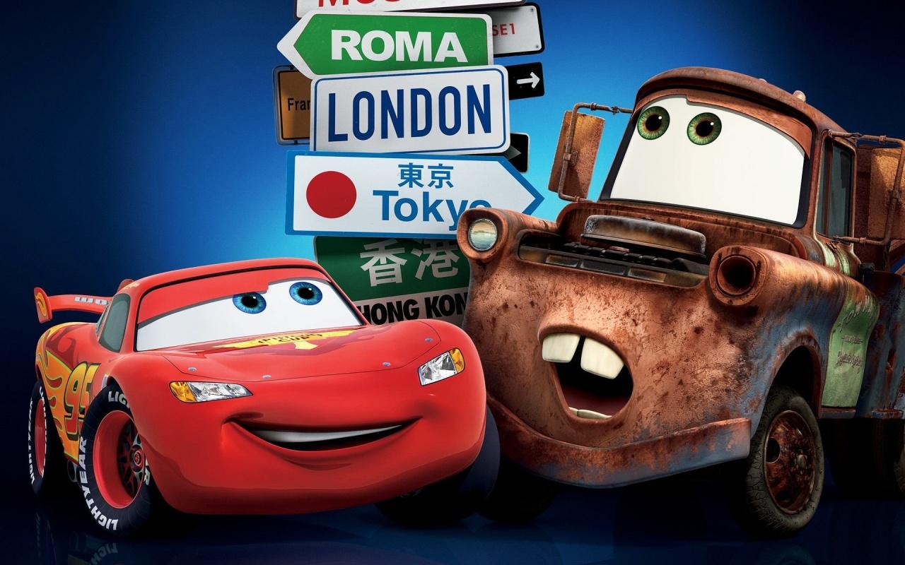 Lightning Mcqueen Cars Movie HD desktop wallpaper Widescreen 1280x800