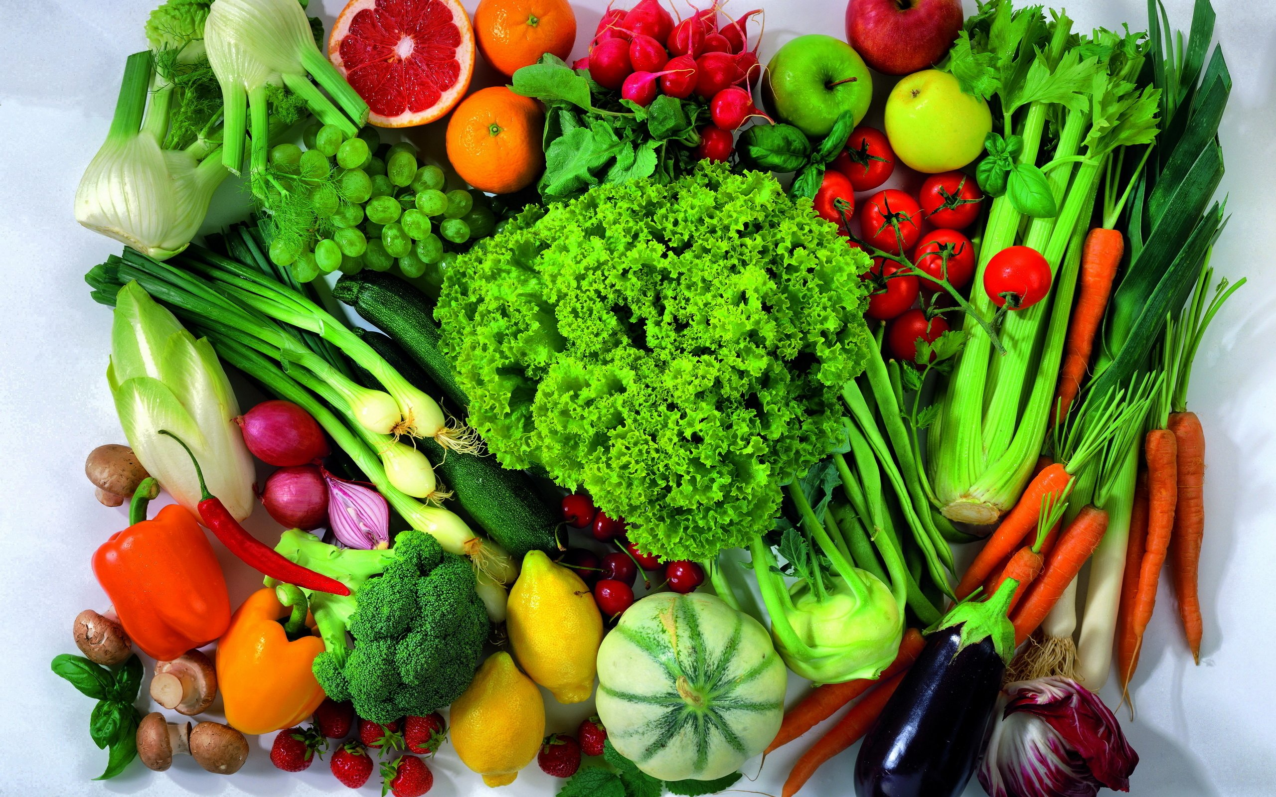 Fruit and vegetable mix wallpapers and images   wallpapers pictures 2560x1600