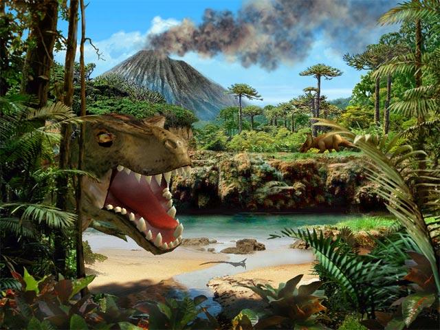 Dinosaur 3D screensaver 640x480