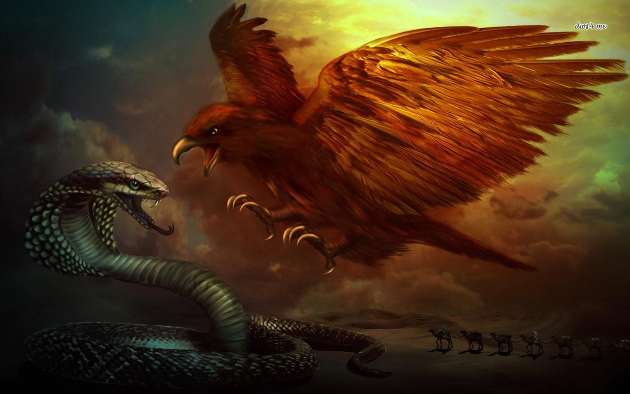 fantasy eagle wallpaper