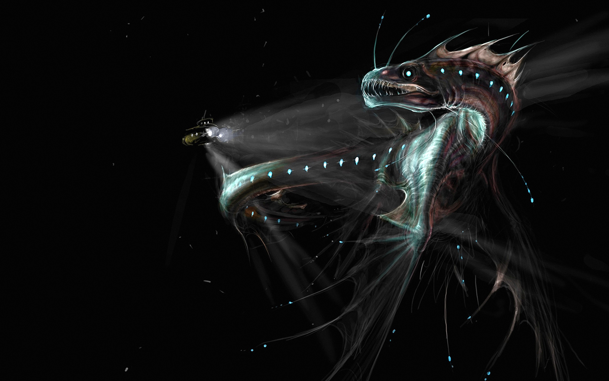 Deep Sea Discovery Google Backgrounds Scary Deep Sea Discovery Google 2560x1600