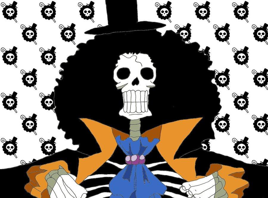 One Piece Sketch   Brook by LNearMelloMatt 900x663